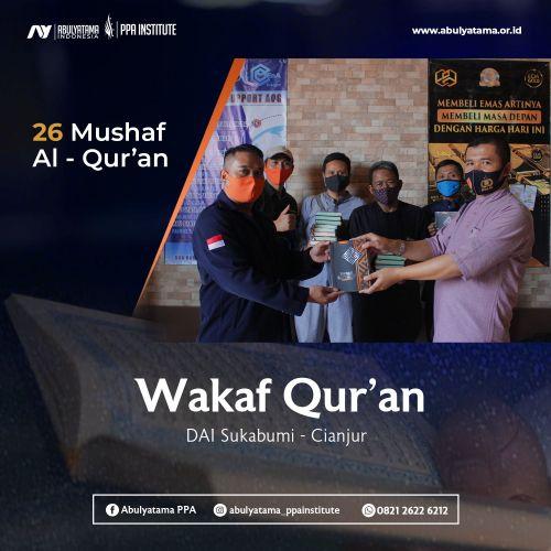 Distribusi 50 Mushaf Wakaf Qur`an YAI