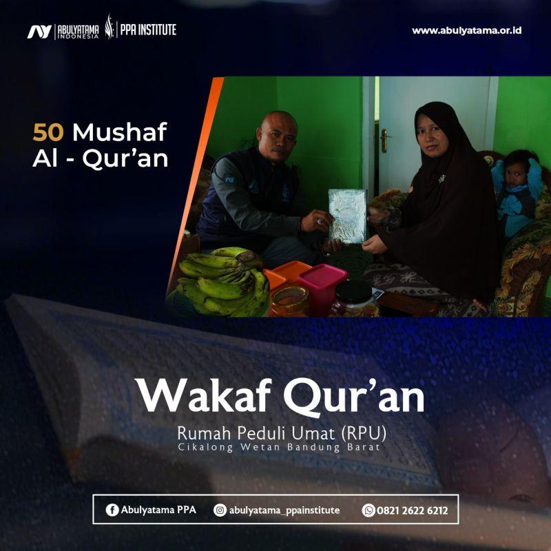 Distribusi Wakaf Qur`an Ke Rumah-Rumah Yatim