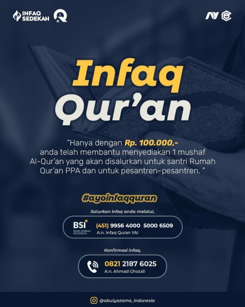 Infaq Qur`an Yayasan Abulyatama Indonesia